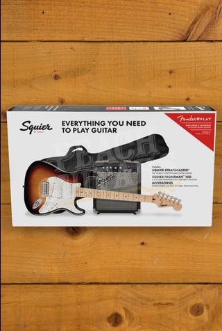 Squier FSR Strat Starter Pack 3 Tone Sunburst