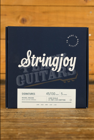 Stringjoy Light Top/Heavy Bottom 5 String Long Scale Nickel Wound 45-130
