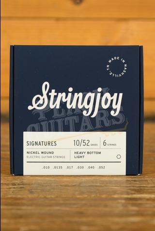 Stringjoy Signatures Heavy Bottom Light Gauge Nickel Wound 10-52