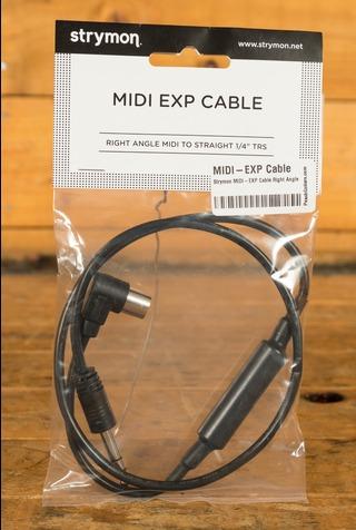 "Strymon MIDI-EXP Cable Right Angle MIDI - Straight 1/4"" TRS"