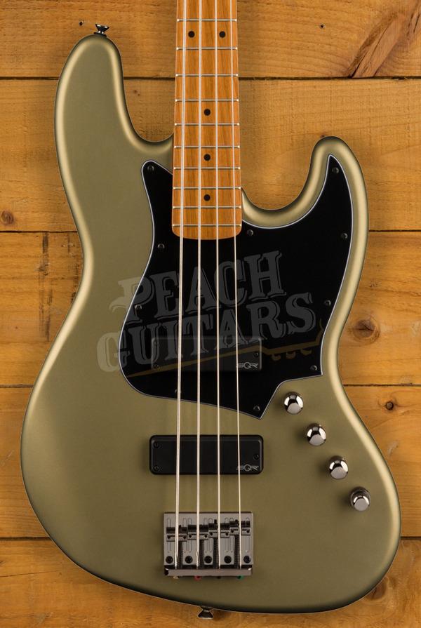 Squier FSR Contemporary Active Jazz Bass Olive Satin