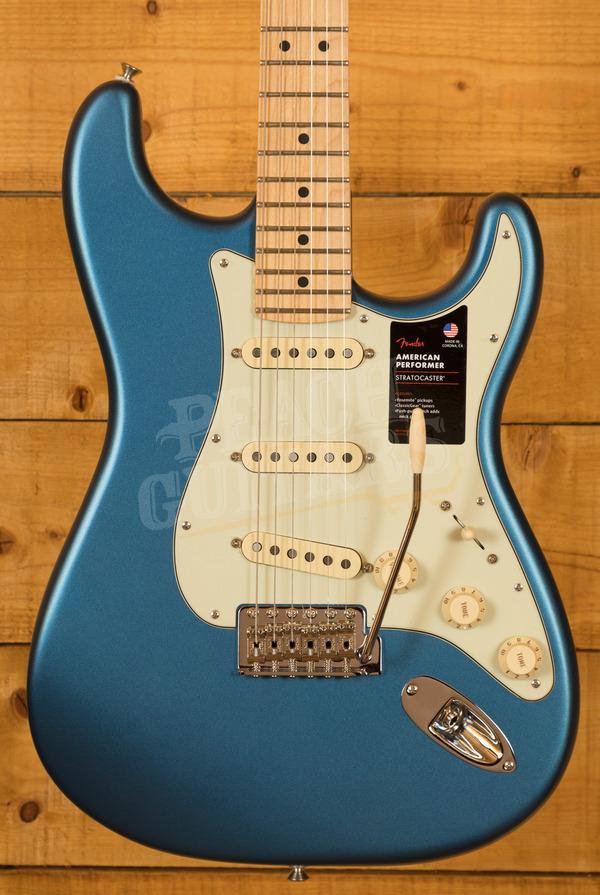 Fender American Performer Stratocaster Maple Neck Satin Lake Placid Blue
