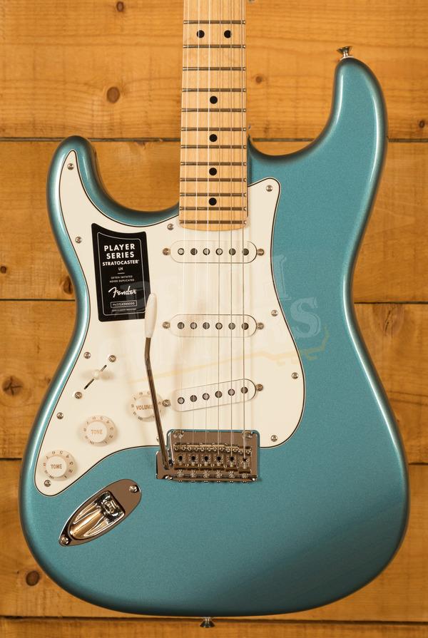 Fender Player Series Strat Left Handed Maple Neck Tide Pool Blue
