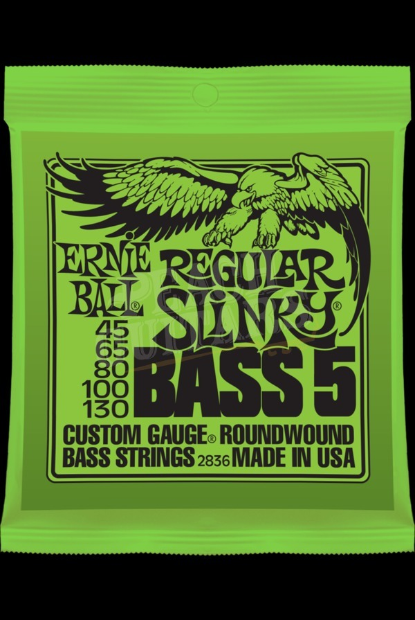 Ernie Ball 5 string Regular Slinky bass set 45-130
