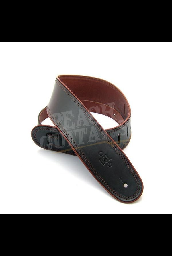 """DSL GEP-25-15-2 2.5"""" Leather Black with Brown piping"""