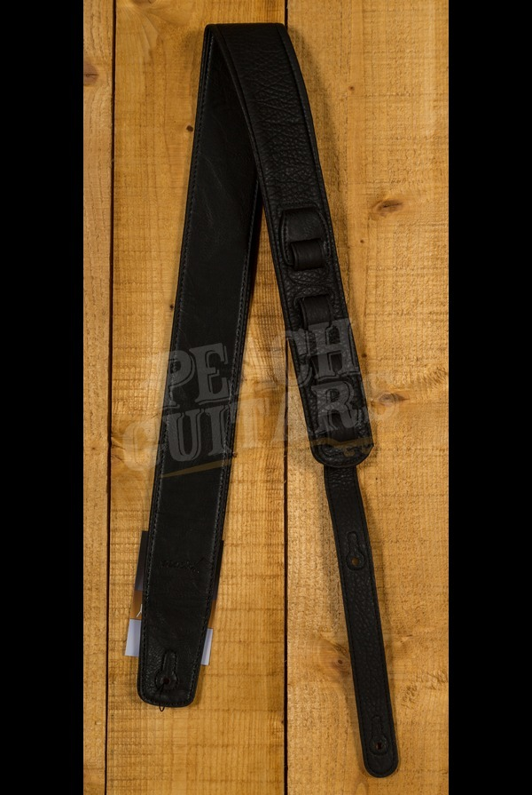Peach Padded Leather Strap Black