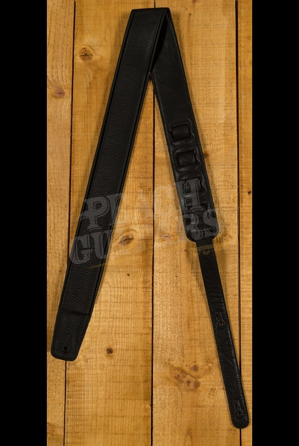 Peach Padded Leather Strap Black Large