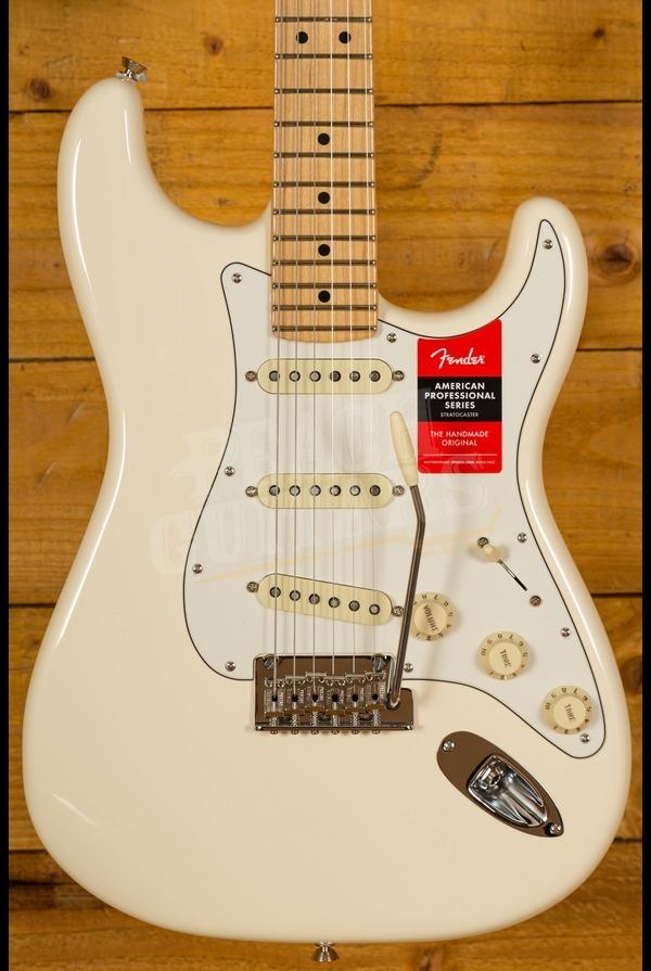 Fender American Pro Strat Olympic White Maple Neck