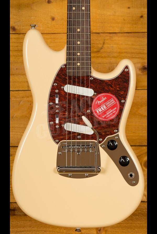 Squier Vintage Modified Mustang Vintage White