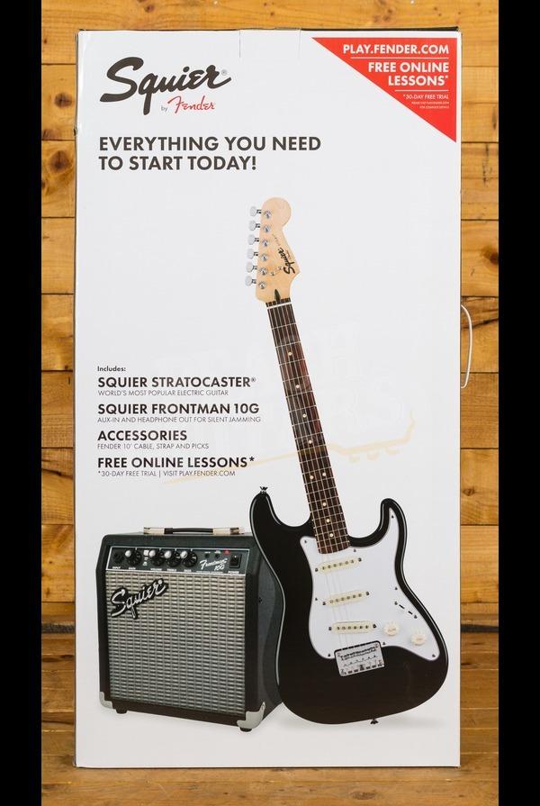 Squier Strat Pack Short Scale, Black, Frontman 10G Guitar Amplifier