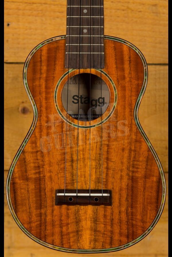 Stagg Soprano Ukulele Walnut Top Mahogany body US120