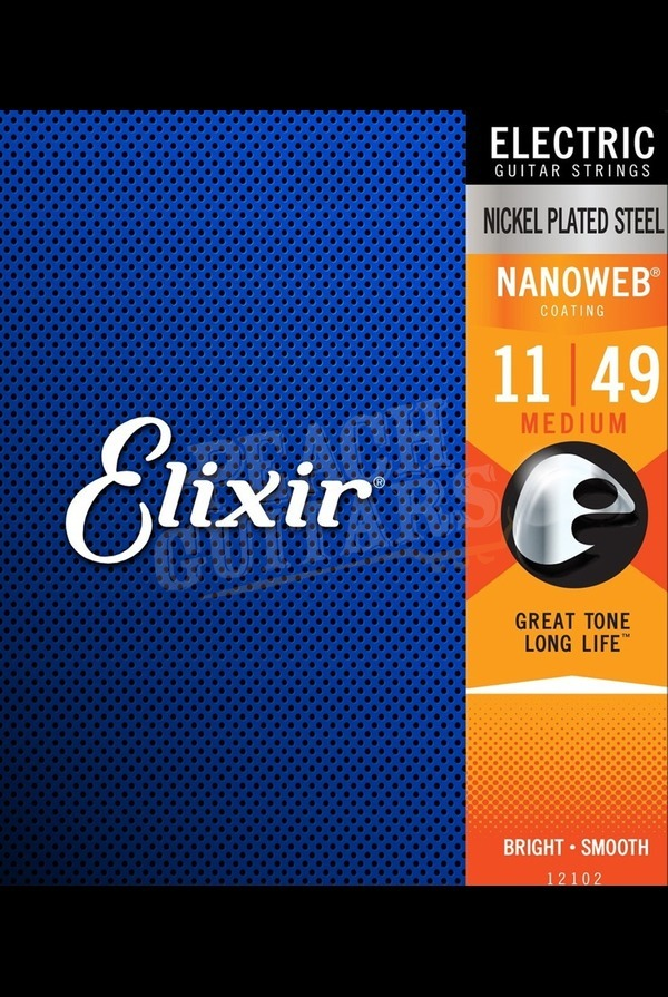 Elixir Electric Nickel Nanoweb Strings - 11-49 (Medium)