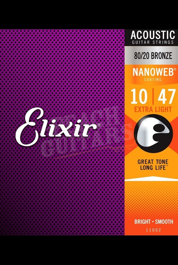 Elixir Acoustic 80/20 Bronze Nanoweb Strings