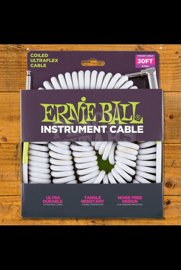 Ernie Ball Coil Cable 30ft White