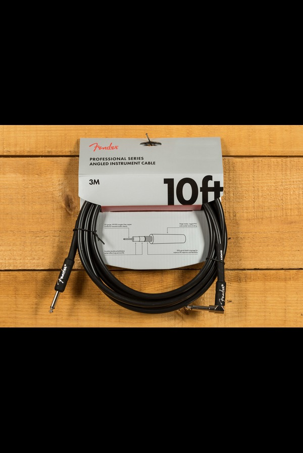 "Fender Pro 10""Angle/Straigtht Instrument Cable Black"
