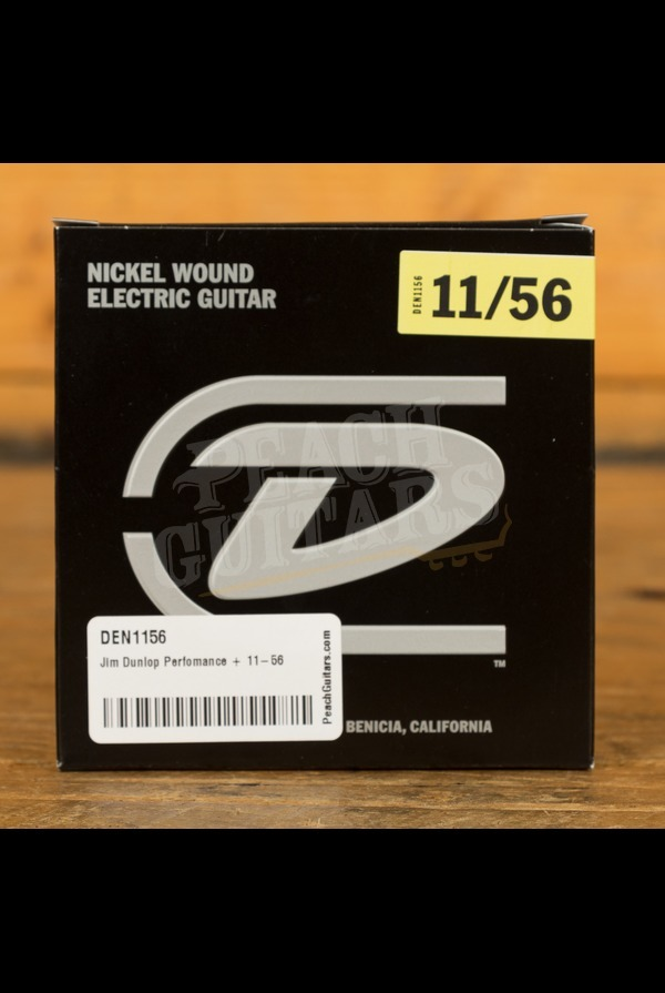 Jim Dunlop Perfomance + 11-56 Nickel Wound Electric Guitars Strings