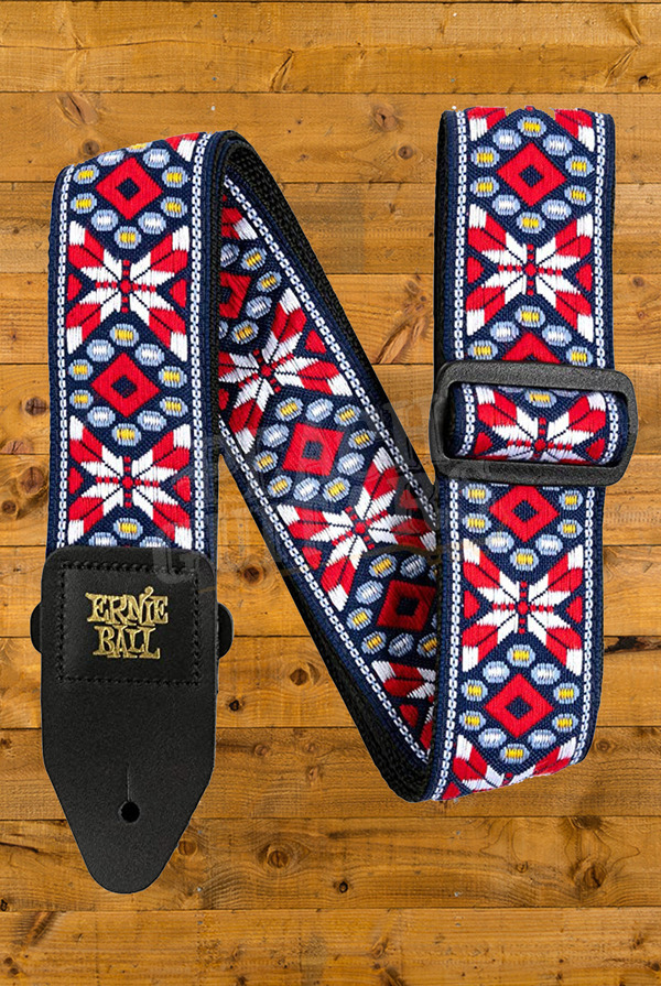 Ernie Ball Taos Fire Red Jacquard Strap