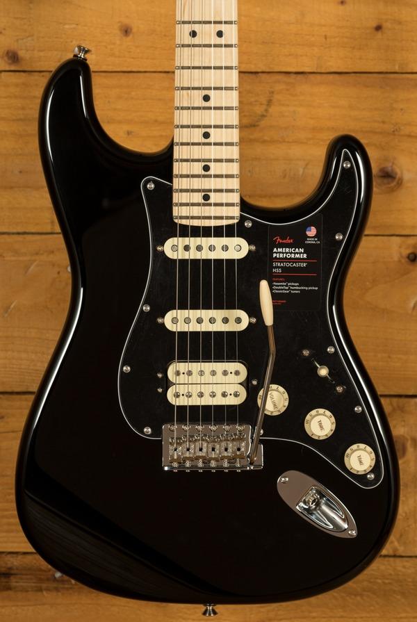 Fender American Performer Strat HSS Maple Black