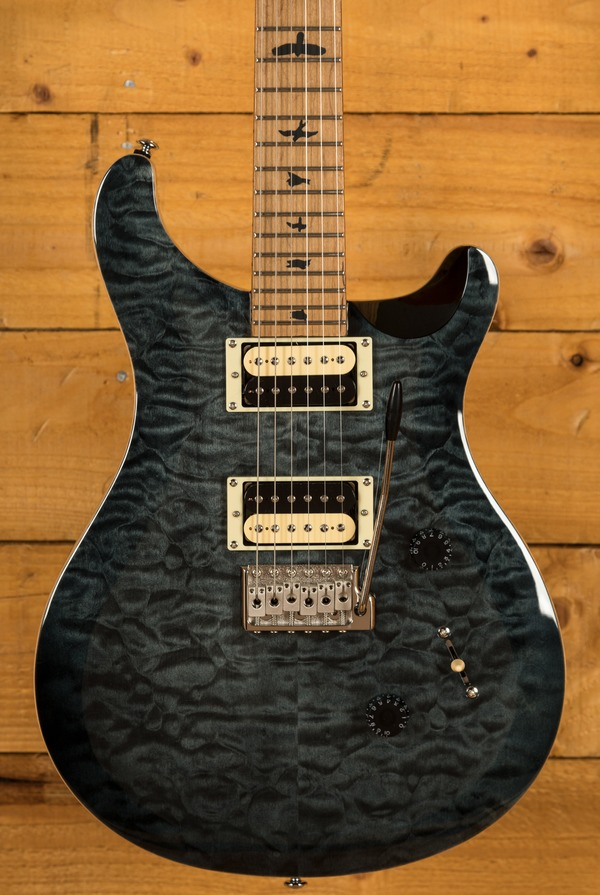PRS SE Custom 24 Quilt Grey Black Torrified Maple Neck Ltd