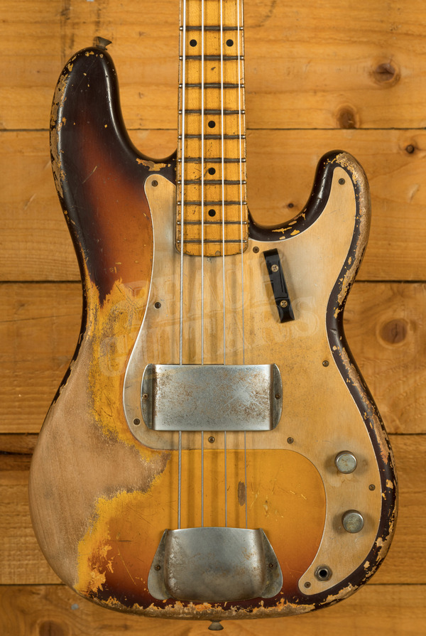 Fender Custom Shop 1958 P-Bass Heavy Relic MB Vincent Van Trigt Faded Chocolate 3TSB
