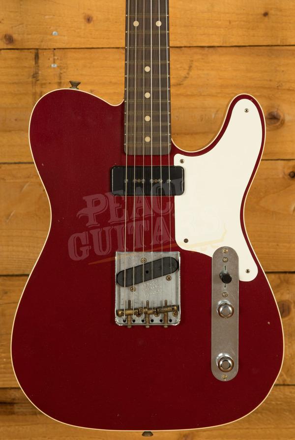 Fender Custom Shop Limited Edition P90 Mahogany Telecaster Journeyman Relic Aged Firemist Red