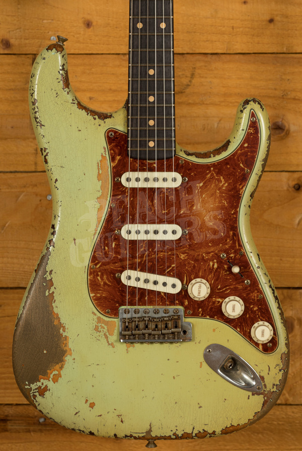 Fender Custom Shop '60s Strat Heavy Relic Surf Green over Chocolate 3TSB Dale Wilson