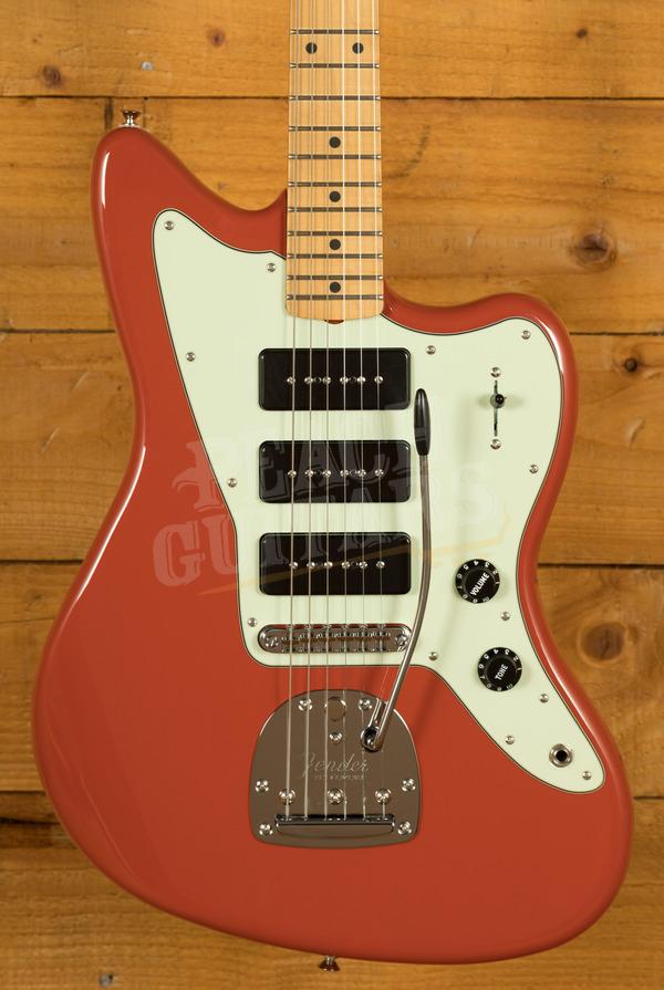 Fender Noventa Jazzmaster Maple Fiesta Red