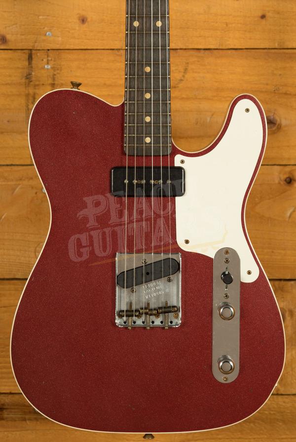 Fender Custom Shop Limited Edition P90 Mahogany Telecaster Journeyman Aged Firemist Red