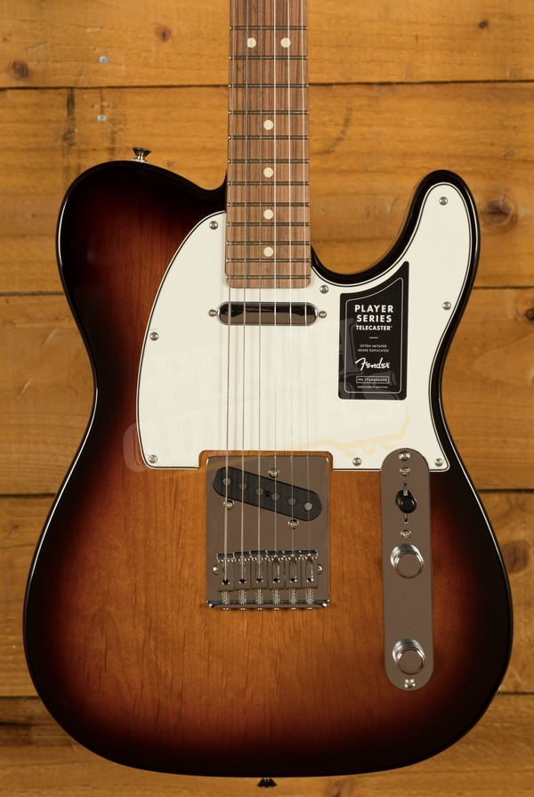 Fender Player Series Tele 3 Tone Sunburst Pau Ferro