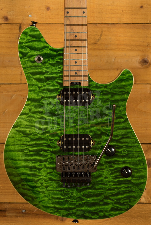 EVH Wolfgang Standard QM, Baked Maple Fingerboard, Transparent Green