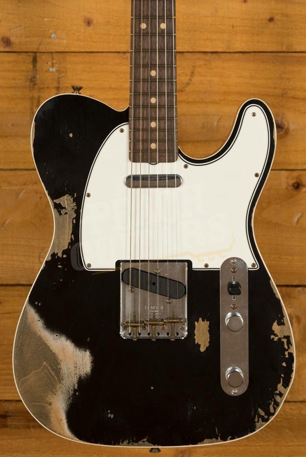 Fender Custom Shop 2020 '64 Tele Custom Heavy Relic Aged Black