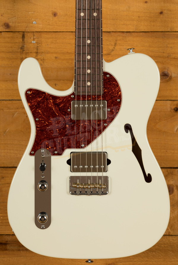 Suhr Alt T Dealer Select - Olympic White w/Roasted Maple/RW Left Handed