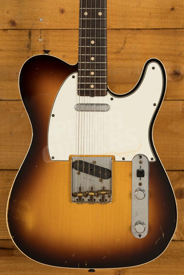 Fender Custom Shop 62 Tele Custom Relic Brazilian Rosewood Sunburst Used