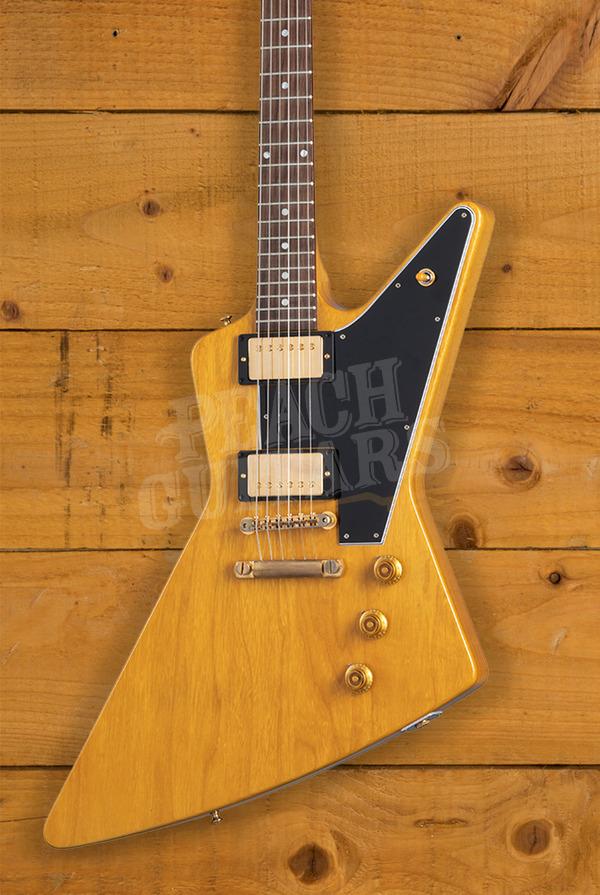 Gibson Custom Shop 1958 Korina Explorer Black Pickguard VOS Historic Collection