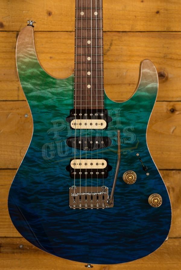 Suhr Modern Plus Curly - Aqua Blue Gradient