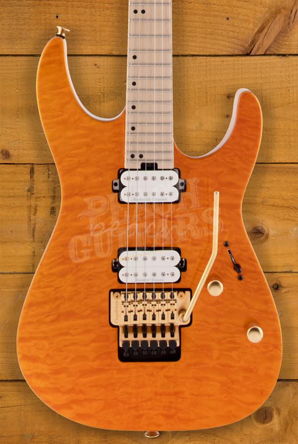 Charvel Pro Mod DK24 HH FR M Mahogany with Quilt Maple - Dark Amber