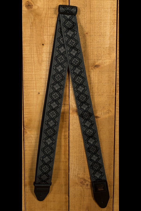 ERNIE BALL 4093 REGAL BLACK JACQUARD GUITAR STRAP Ships FREE U.S.