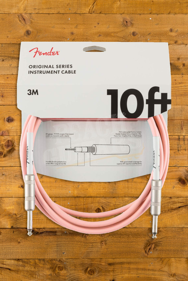 Fender Original 10' Instrument Cable Shell Pink