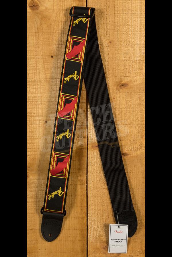 Fender Mono Strap - Black, Yellow & Red