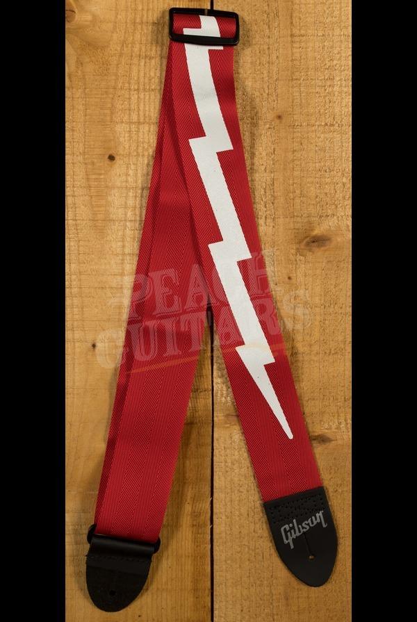 Gibson 'The Lightning Bolt' Seatbelt Strap Red