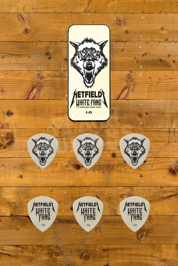 Dunlop Picks - Hetfield White Fang Flow Pick Tin 6