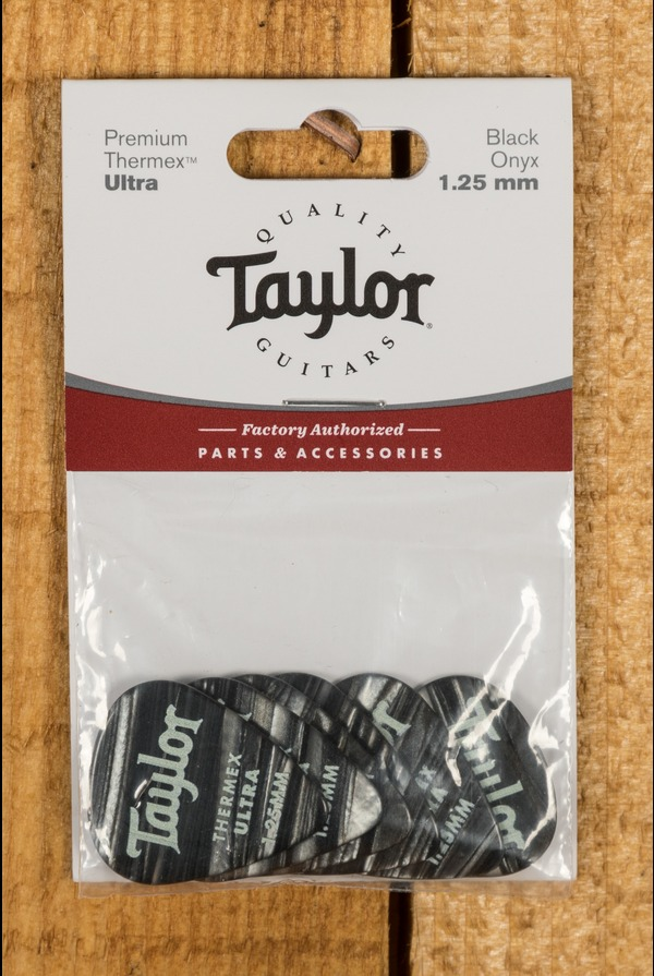 Taylor Premium 351 Thermex Ultra Picks Black Onyx 1.25