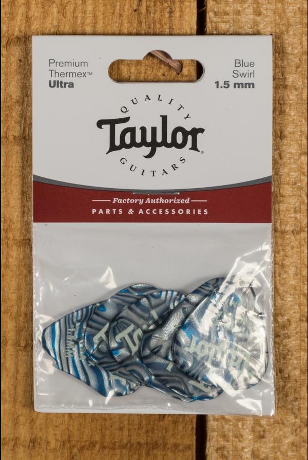 Taylor Premium 351 Thermex Ultra Picks Blue Swirl 1.5