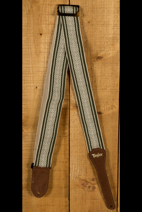 Taylor Strap Green/White Jacquard Cotton