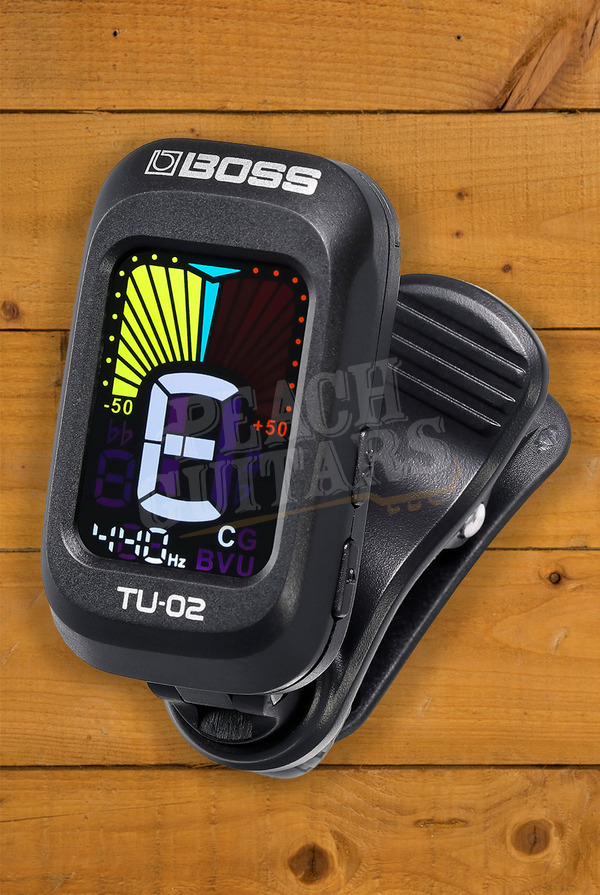 Boss TU-02 Clip-on Tuner with High-contrast Color Display