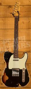 Fender Custom Shop '60 Tele Custom Heavy Relic Black over Chocolate 3TSB