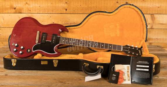 Gibson Custom 1963 SG Special Reissue Lightning Bar VOS Cherry Red