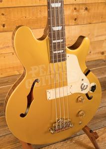 Epiphone Jack Casady Bass - Metallic Gold - Chrome Hardware