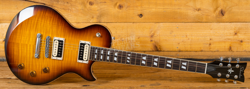 Schecter USA Custom Shop Solo II Custom Carved Top Maple Vintage Burst