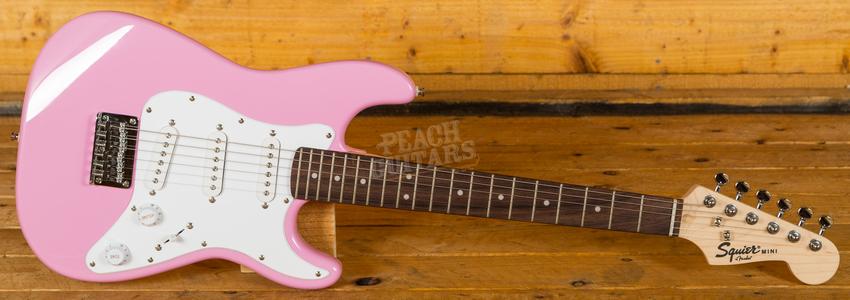 Squier Mini Strat Pink V2